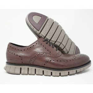 Cole Haan ZeroGrand Wing Ox Burnished Wine Leather